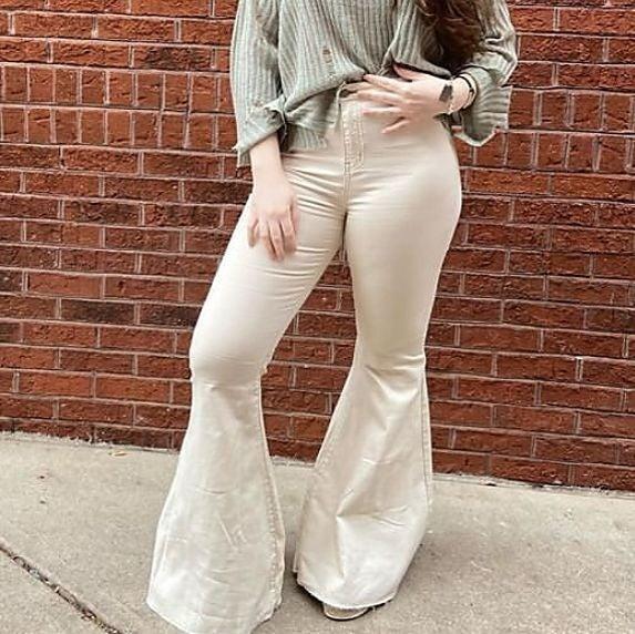 Cream Super Flare Jeans