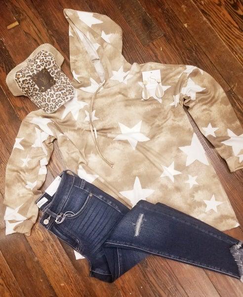 Star Hooded Sweathshirt
