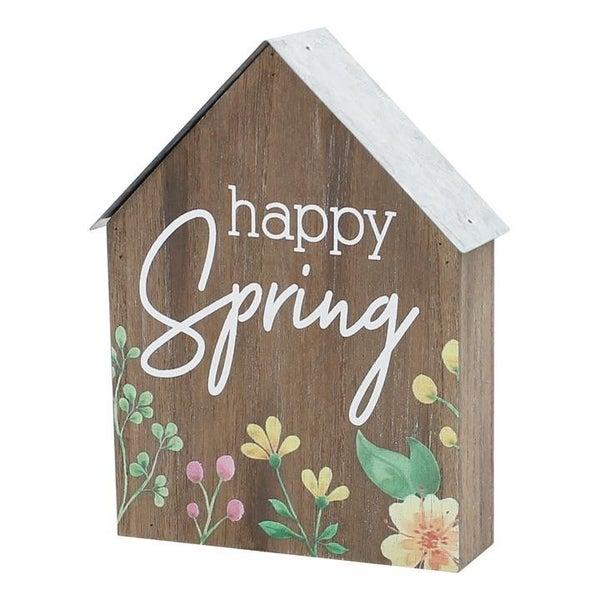 Happy Spring House Shelf Sitter