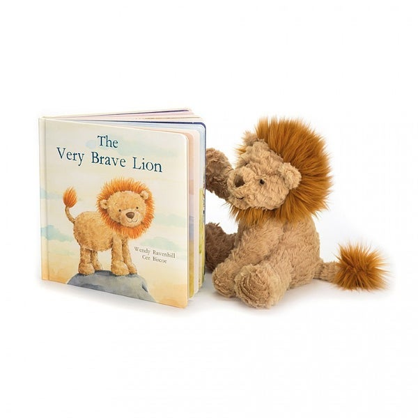 The Very Brave Lion Book and Plush Lion