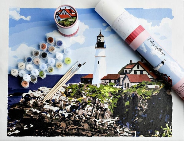Leading Lighthouse Paint by Numbers