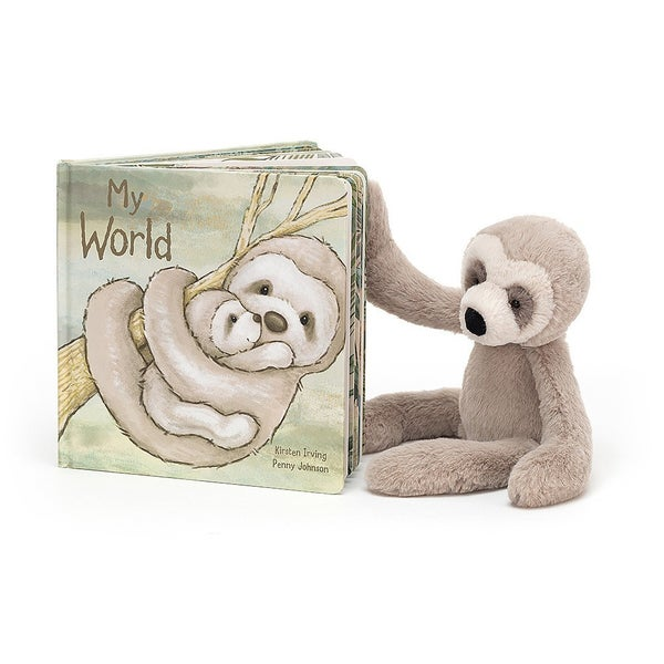 My World Book and Plush Sloth