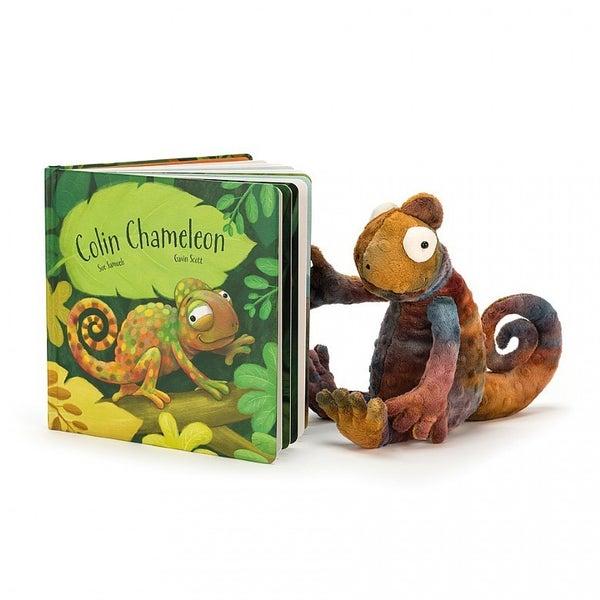 ColinChameleon Book and Plush Chameleon