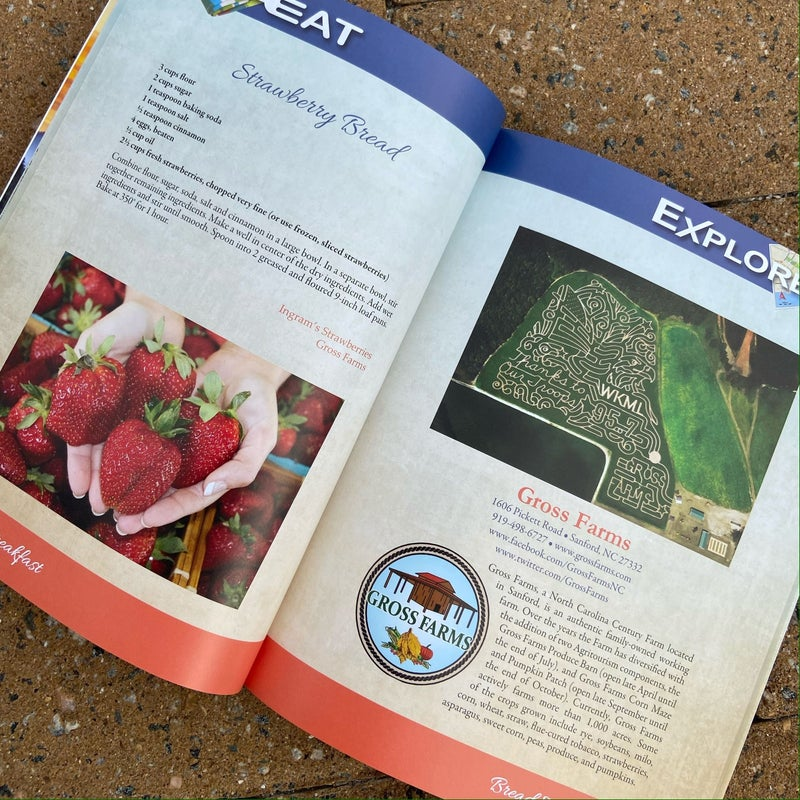 Explore NC Cookbook and Travel Guide