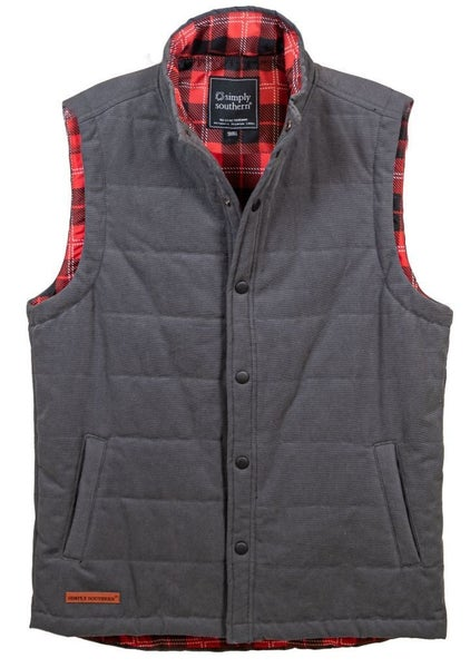Simply Southern Washington Quilted Vest for Men