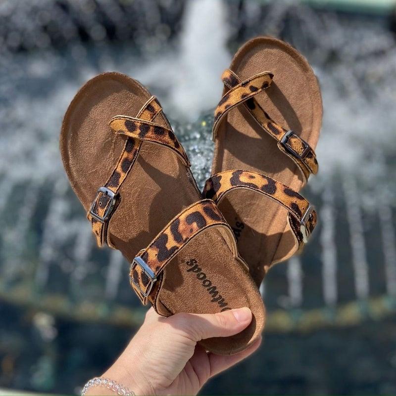 OutWoods Women's Sandal Leopard