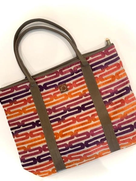Upcycled For Hope Brook Tote Orange Link