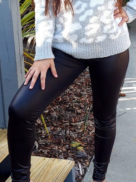 Faux Leather Look Legging