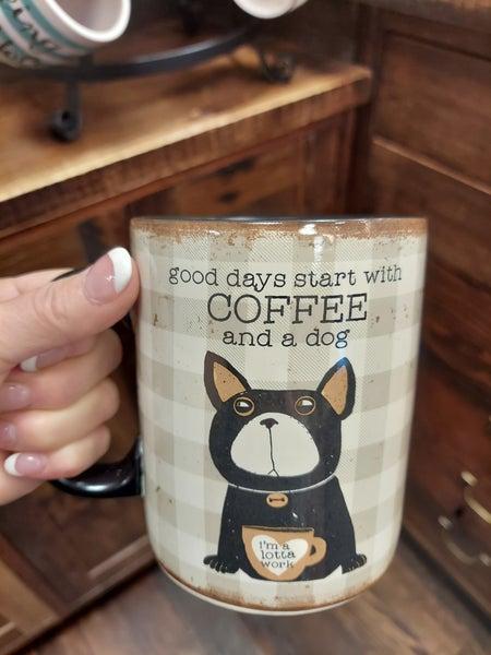Plaid Pet Mug