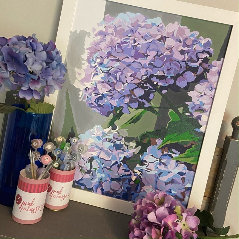 Happily Hydrangea Paint by Numbers