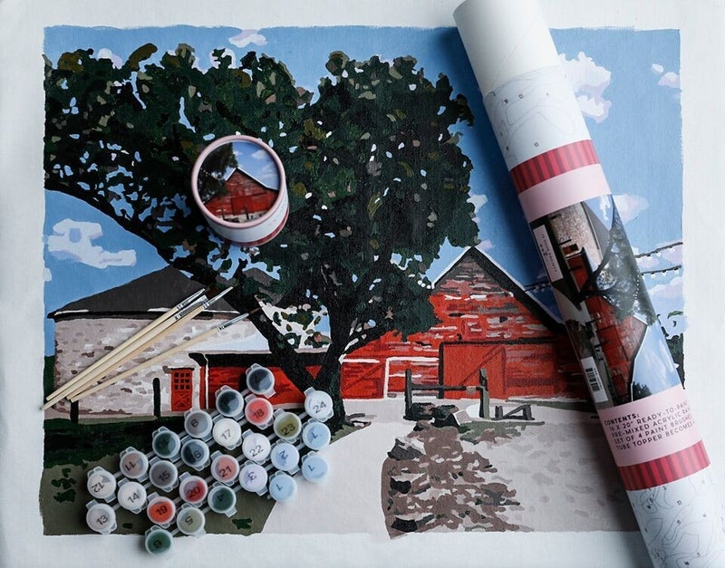 Rustic Red Paint by Numbers