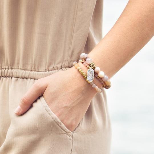 Rainbow Agate Balance Gemstone Bracelet From $25