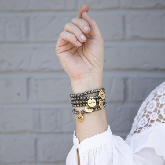 Pyrite Stacker Bracelets