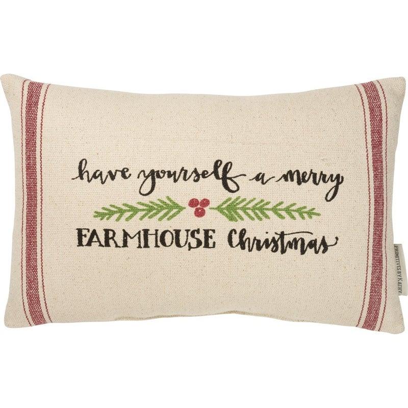 Merry Farmhouse Pillow