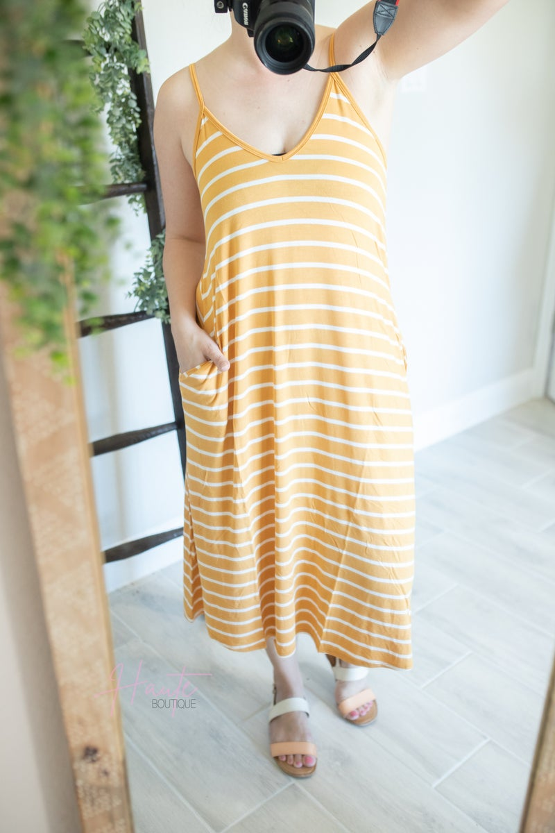 Ready For The Weekend Dress - Mustard