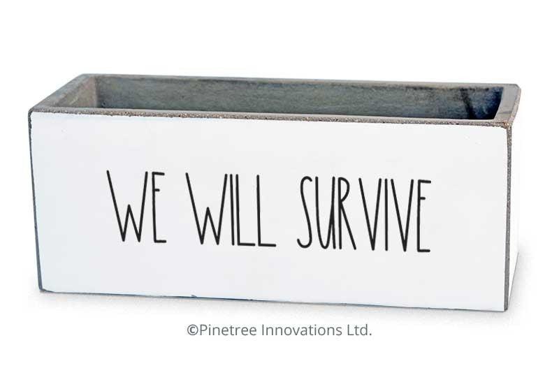 We Will Survive Planter