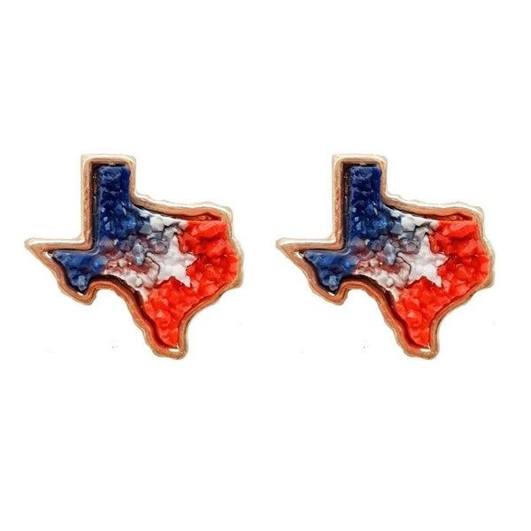 Texas Druzy Studs