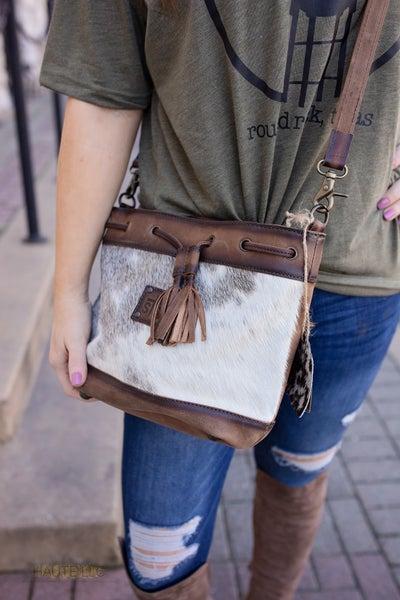 STS Cowhide Bucket Bag