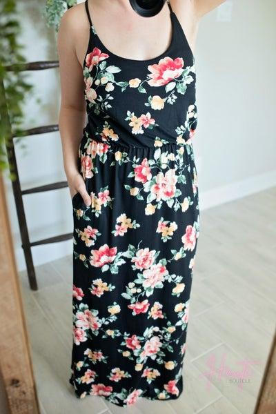 Maci Botanical Maxi Dress