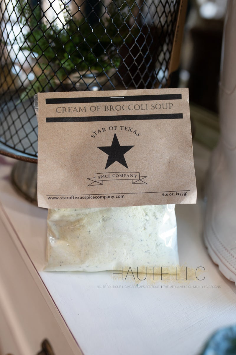 Cream of Broccoli Soup - Star of Texas *Final Sale*