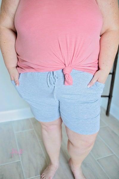 Paperbag Lounge Shorts - Heather Grey