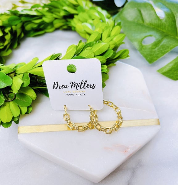 DM Small Gold Link Hoops