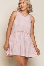 Sweet and Simple Babydoll Knit Top- Pink