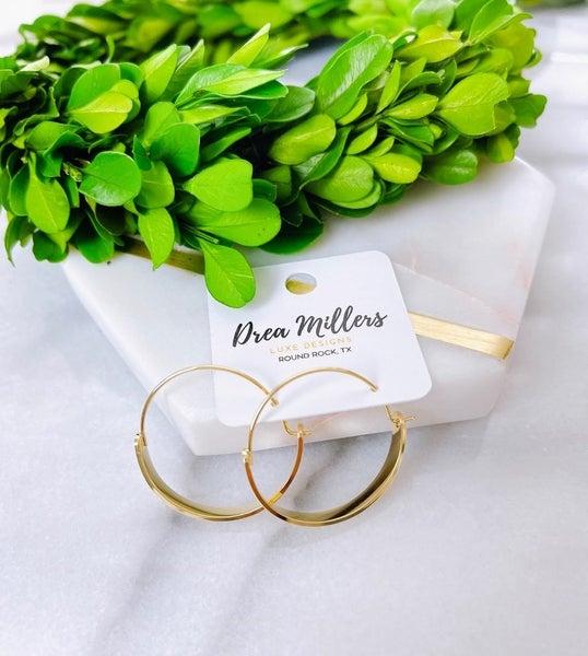 DM 14k Gold Plated Half Hoops