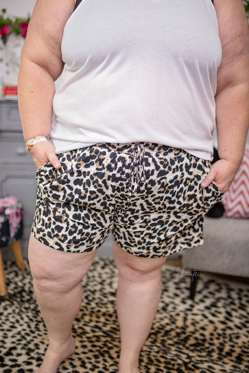 On The Prowl Leopard Print Shorts