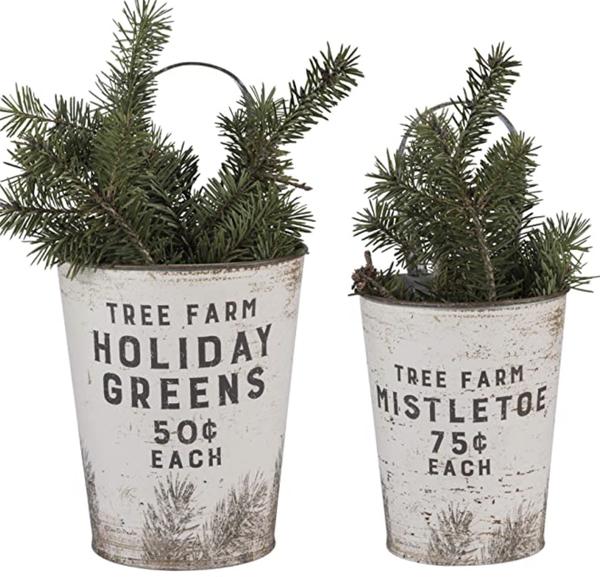 Tree Farm Bucket Set