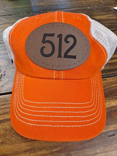 "PREORDER ""512"" Hat Patch *Final Sale*"