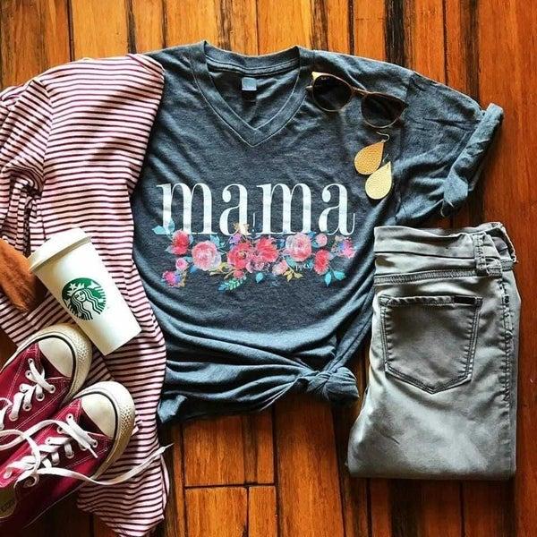 PREORDER Mama floral Tee