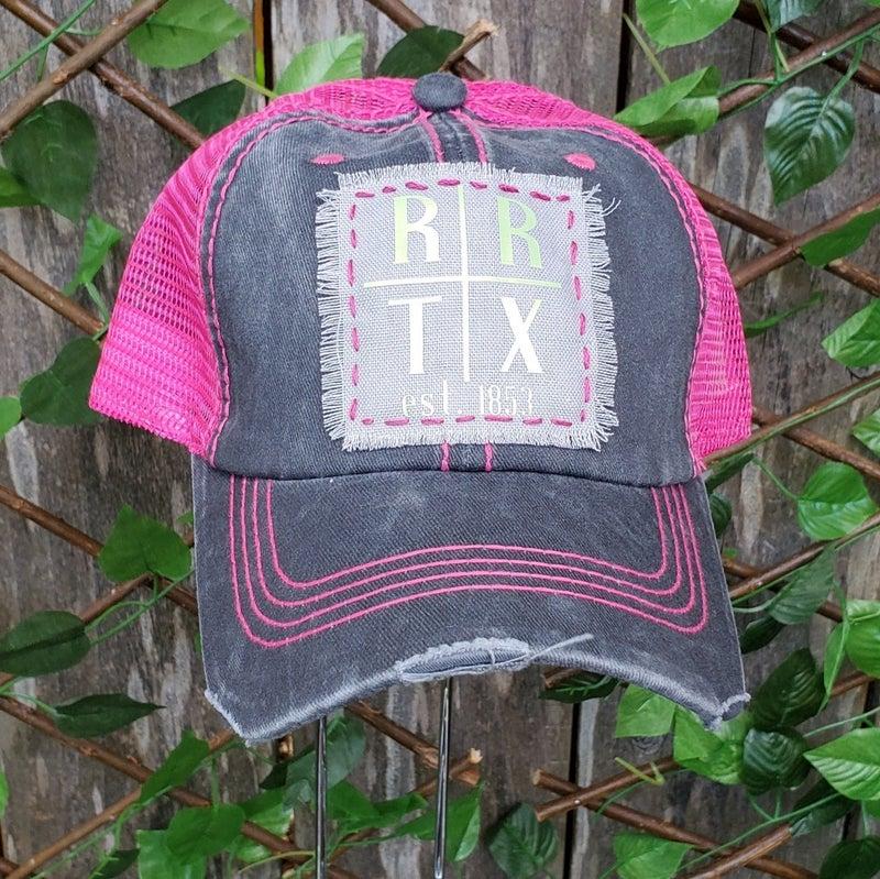 Grey & Pink Trucker Hat