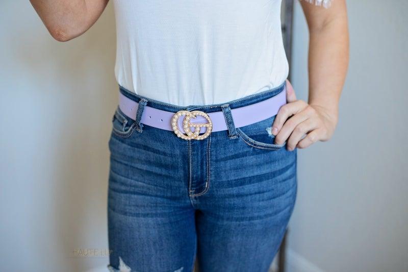 GG Inspired Pearl Buckle Belt *Final Sale*