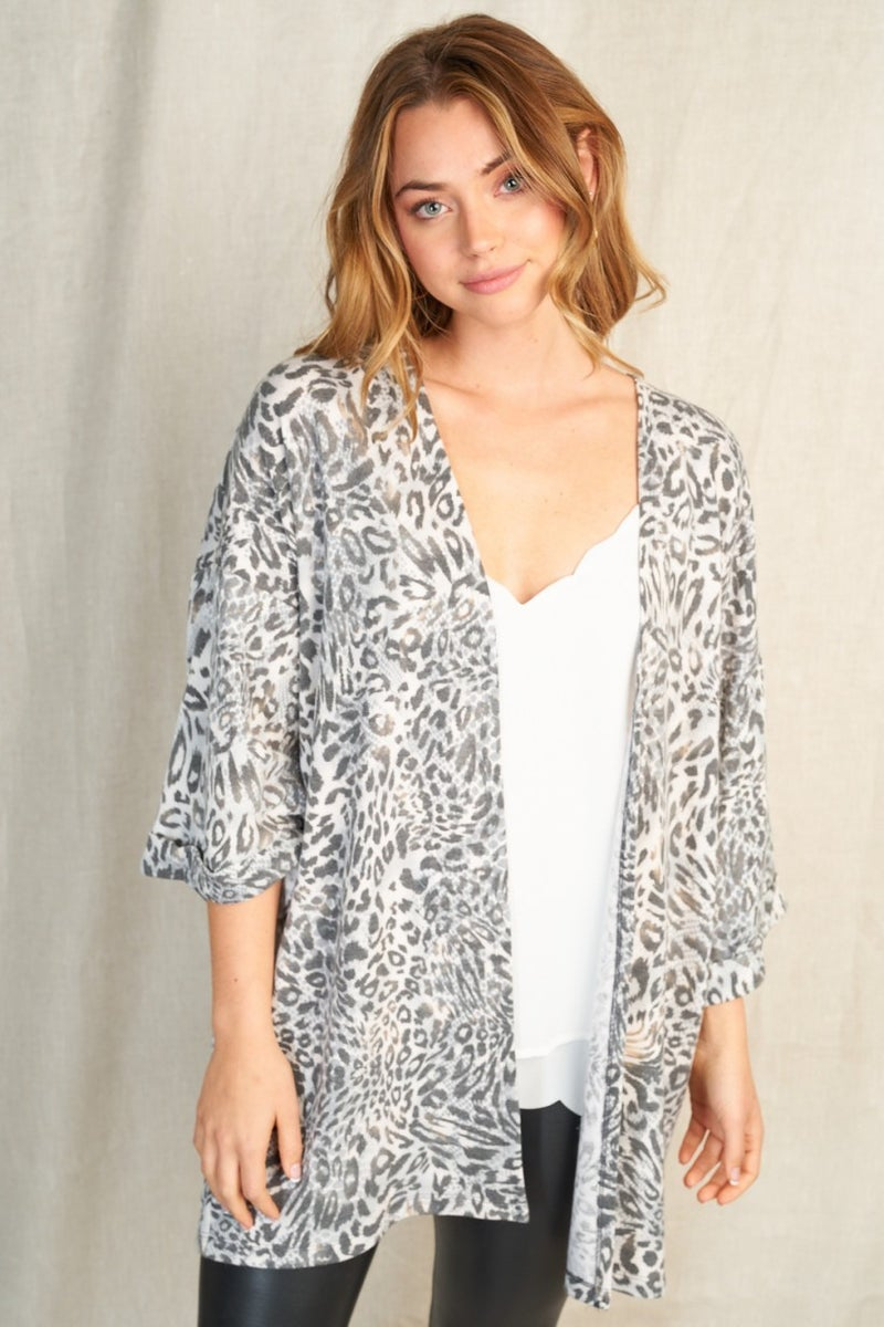 PRE-SALE Laney French Terry Leopard Cardigan