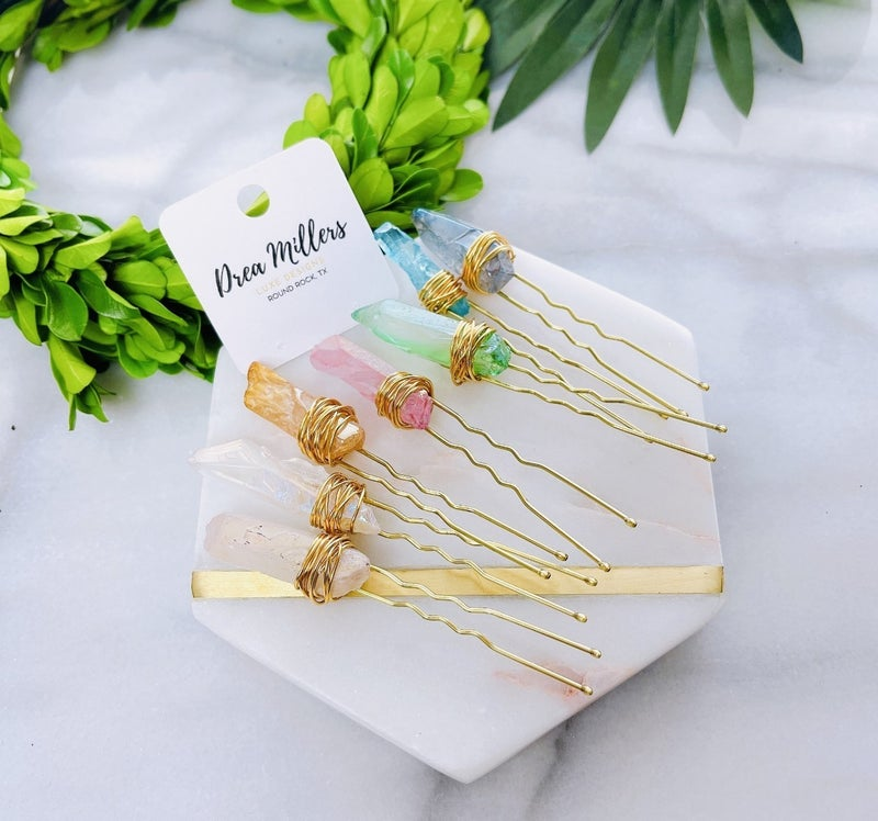DM Crystal Hair Pins