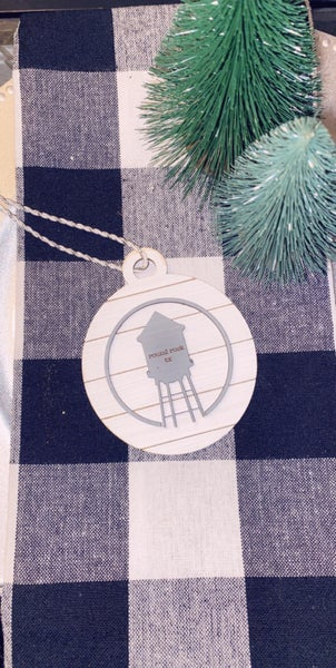 Water Tower Shiplap Ornament