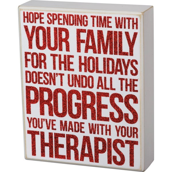 Progress With Your Therapist Sign
