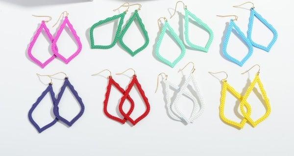 Color Coated Moroccan Drop Earrings