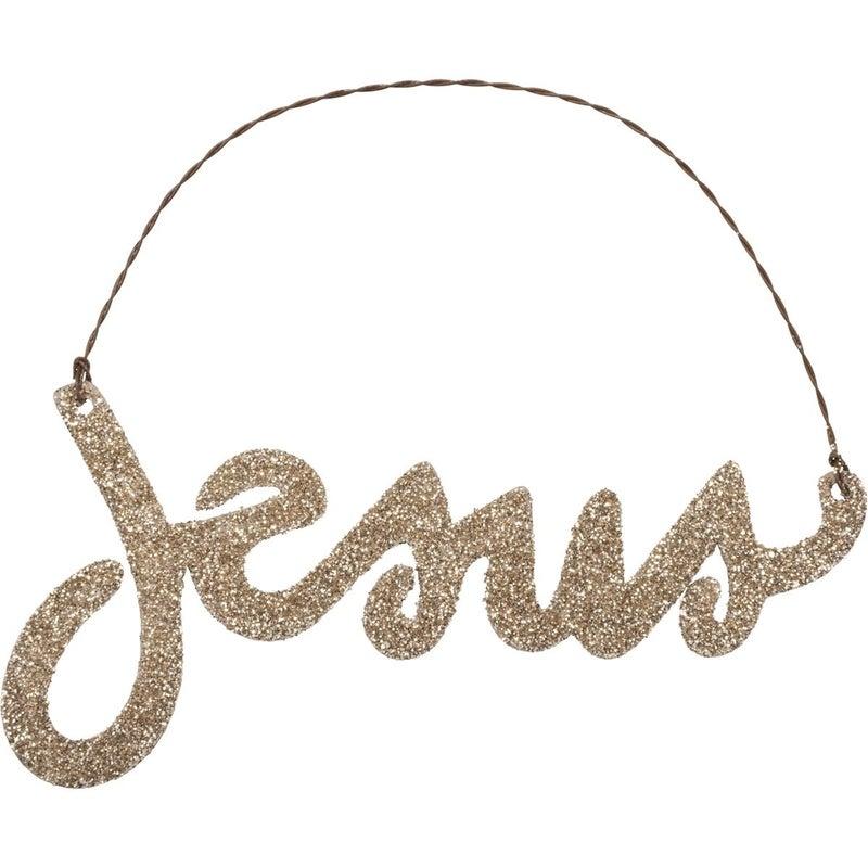 Jesus Glitter Ornament