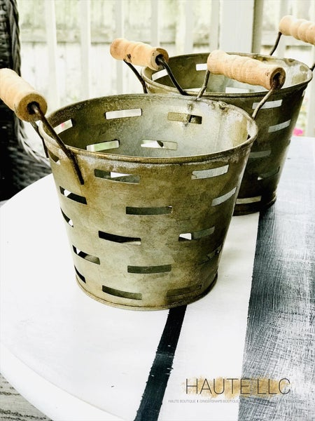 WH Double Handled Mini Olive Bucket