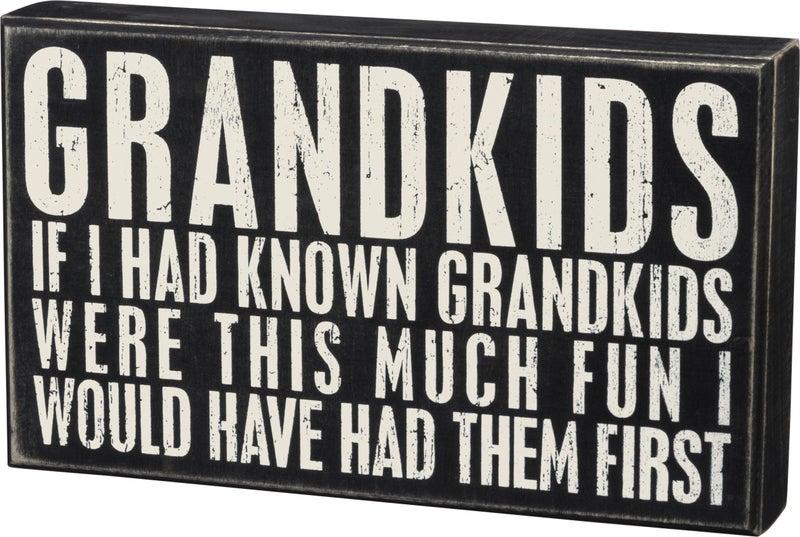 Box Sign- Grandkids