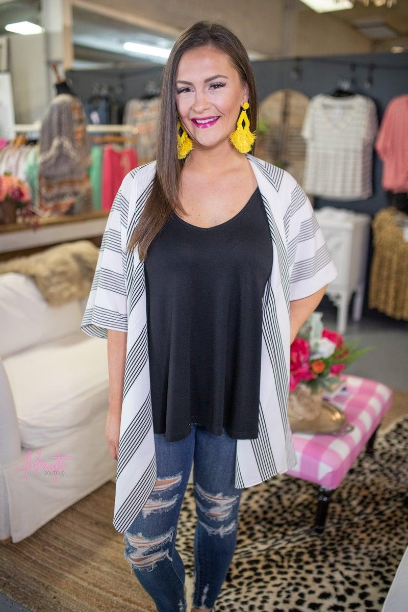Missy Striped Kimono