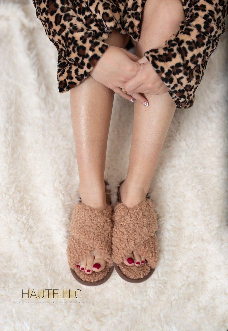 Cozy Criss Cross Slippers