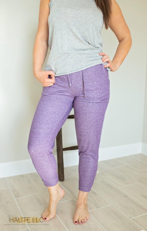 Velboa Blend Sweatpants Lilac Grey