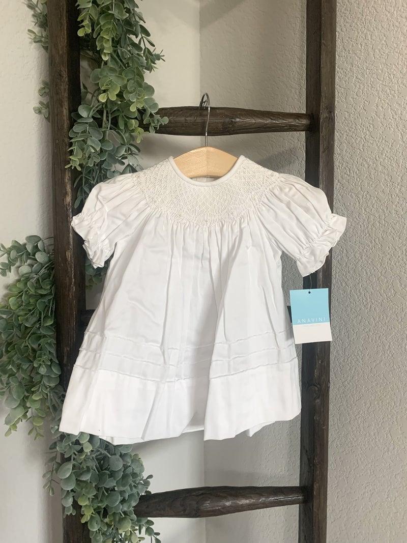White Bishop Dress *Final Sale*