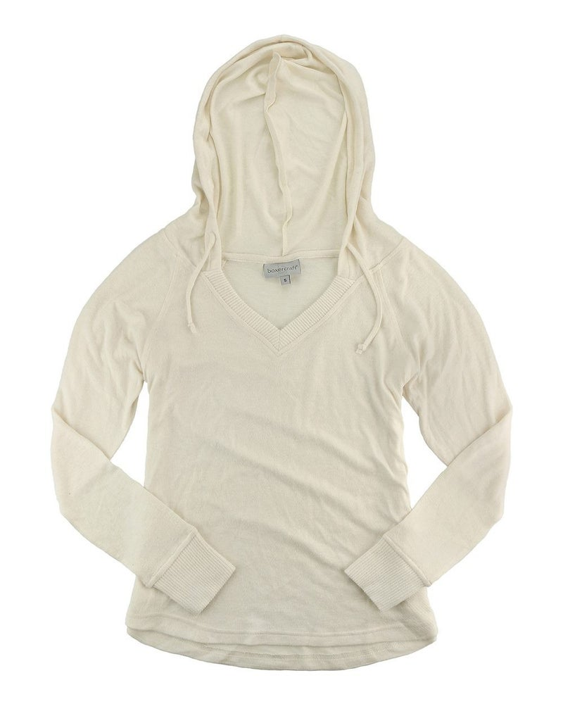 PREORDER Cuddle Fleece Hooded Pullover- Natural