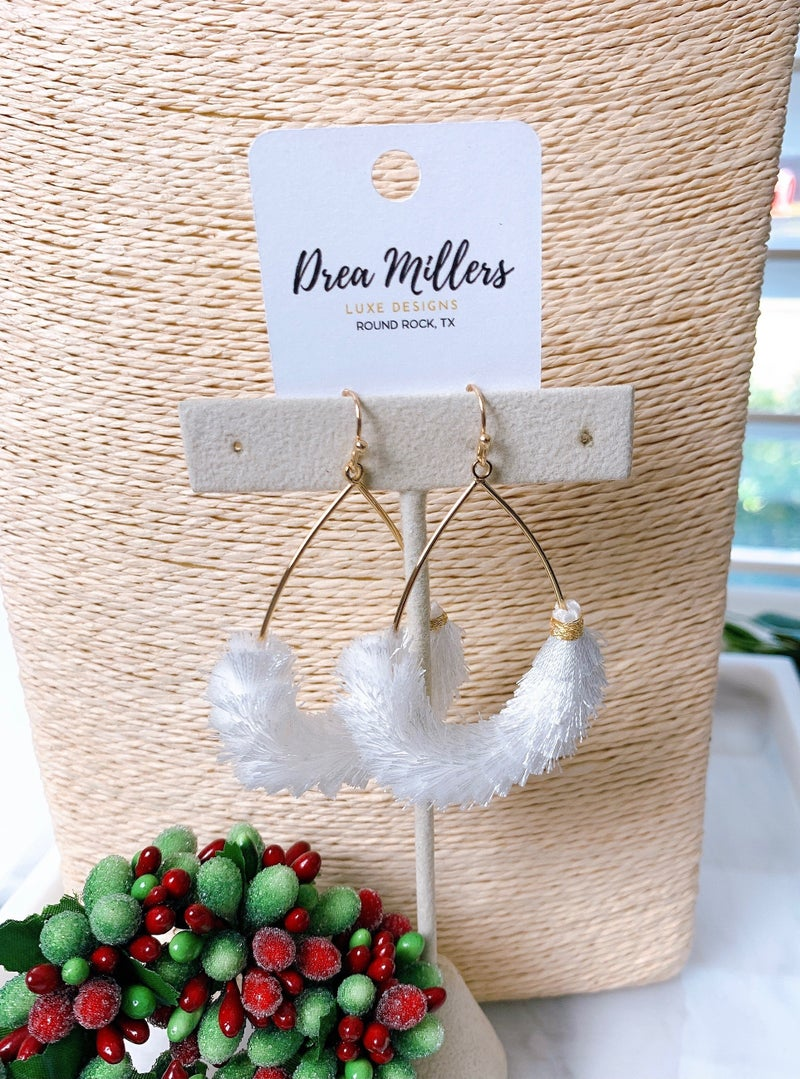 DM Fringe Tassel Teardrop Earrings