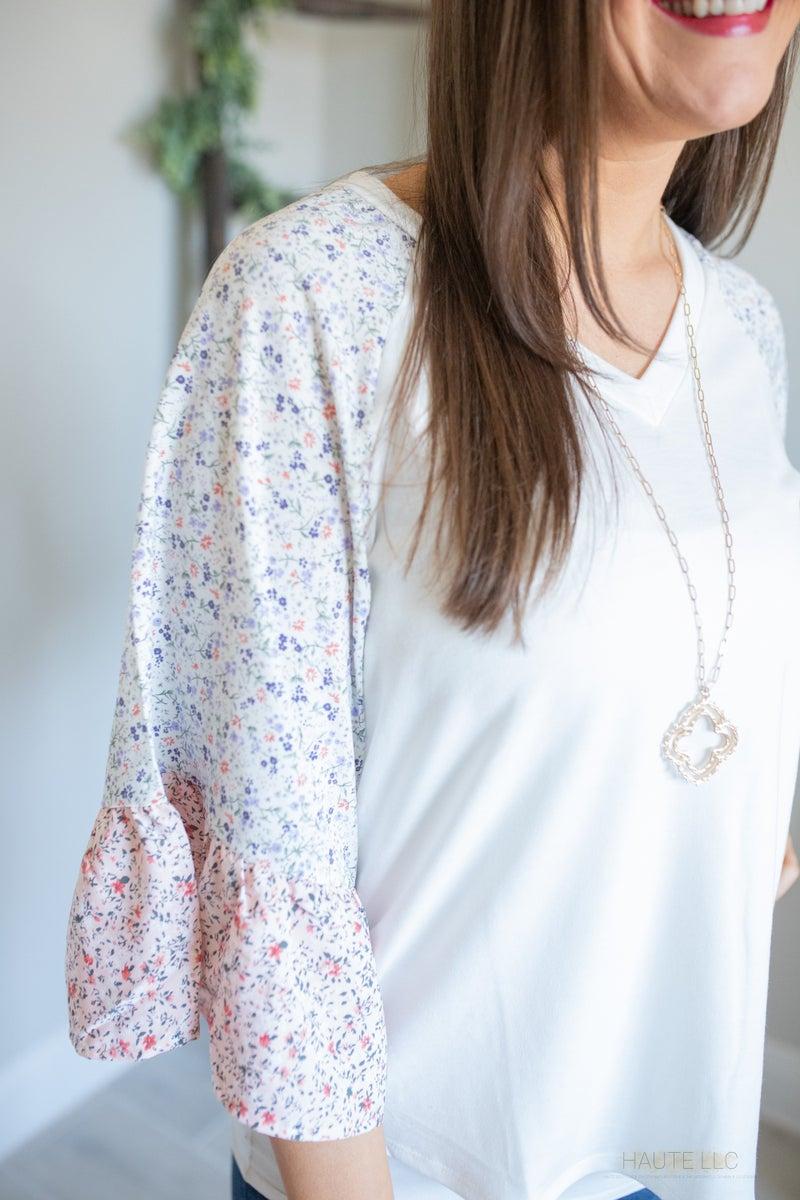 Floral & Flowy Knit Top