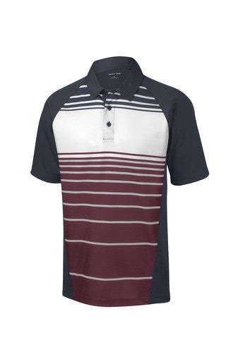 PREORDER Sublimated Stripe Polo - Maroon *Final Sale*